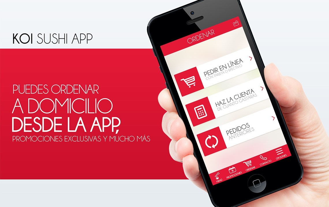 KOI Sushi App iOS y Android